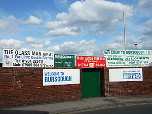 Burscough F.C. - Entrance to Victoria Park