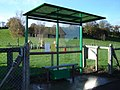 Bus shelter by playground in Nercwys - geograph.org.uk - 281212.jpg