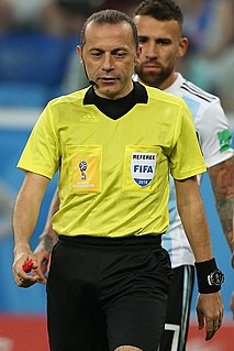 Cüneyt Çakır Turkish UEFA Elite association football referee