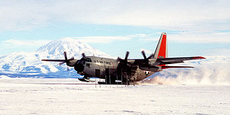 109th Airlift Wing - 109th AW LC-130H landing at McMurdo Station, Antarctica