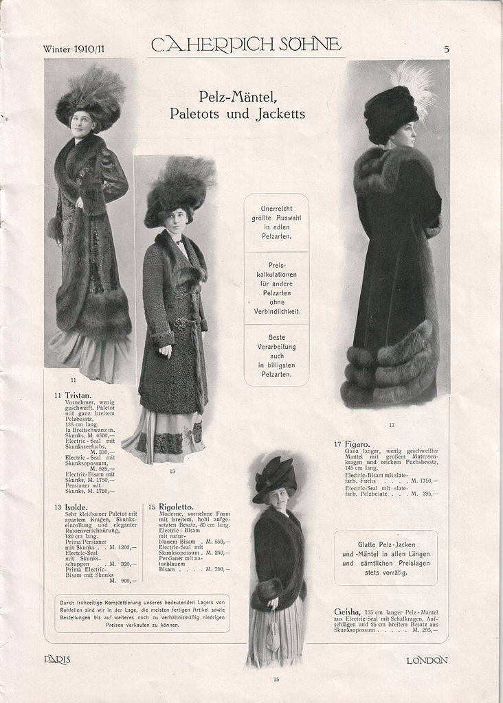 file c a herpich s�hne, berlin, modewaren 1910 (prospekt)05 jpg  Kleidung Mntel C 10_24 #5