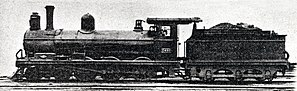 CGR 5th Class 4-6-0 1890 - Image: CGR 5th Class 4 6 0 no. 495 1890