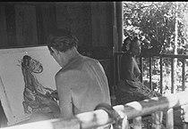 COLLECTIE TROPENMUSEUM De Belgische schilder Le Mayeur de Merprès met zijn vrouw en model Ni Pollok TMnr 10029733.jpg