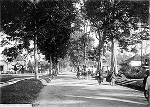 Salatiga - Salatiga street scenery in 1918