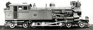 CSAR Rack 4-6-4RT - CSAR rack locomotive no. 996, c. 1906