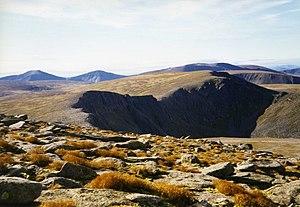 Cairngorms - Cairn Gorm view over Coire an t-Sneachda, a glacial cirque.