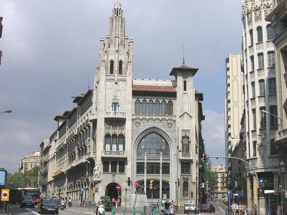 Edificio de la caja de pensiones de barcelona wikipedia la enciclopedia libre - Caixa d estalvis i pensions de barcelona oficinas ...