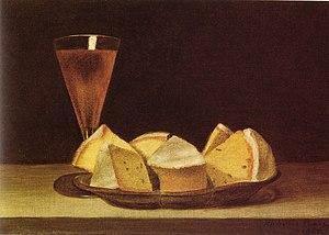 Rubens Peale - Cake and Wine Glass, by Rubens Peale, 1865