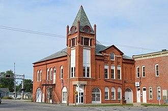 Caledonia, Ohio - Town hall on the public square