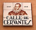 Calle de Cervantes - Street name plate in Madrid.jpg