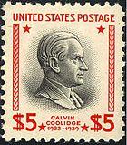 Calvin Coolidge 1938 Issue-$5