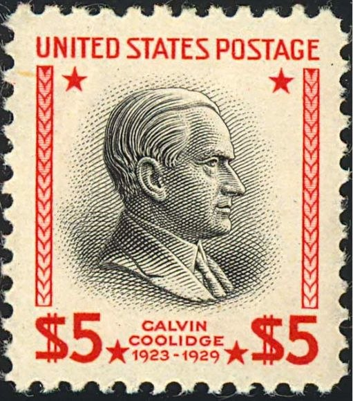 Calvin Coolidge 1938 Issue-$5