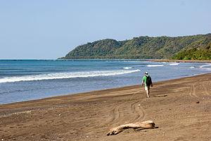 Los Santos Province - Dark sand beach in Cambutal