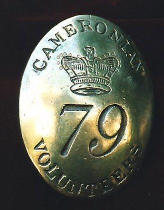 Queen's Own Cameron Highlanders - Belt-plate of the 79th Cameron Highlanders from the year of their formation (1793)