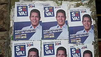 2018 Venezuelan presidential election - Campaign posters of Falcón in Caracas