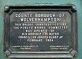 Cannock Road Bridge plaque, Wolverhampton - geograph.org.uk - 1231475.jpg