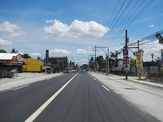 Philippine highway network - MacArthur Highway as seen in Capas, Tarlac