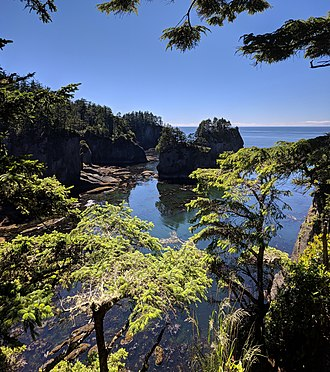 Cape Flattery - The view to the south from Cape Flattery
