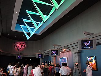 Captain EO - Captain EO waiting area at Tokyo Disneyland in 2013