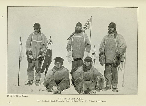 "Captain Robert F. Scott's party ""at the south pole"", 1911 (exbt-iceberg-46)"