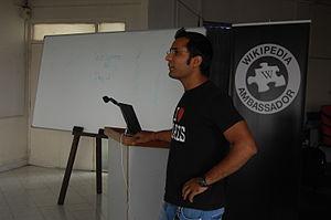 English: Pune Campus Ambassador practicing his...