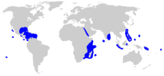 Range of the silvertip shark