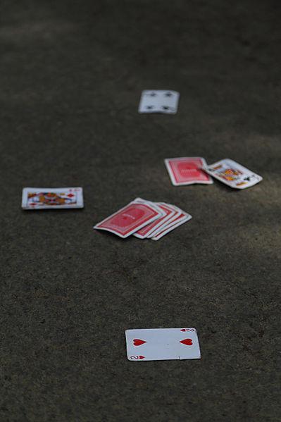 File:Cards in a street J1.jpg