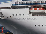 Caribbean Princess Name Sign Tallinn 10 August 2015.JPG
