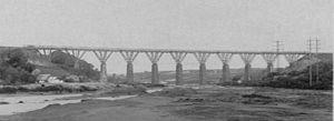 Perranwell railway station - The original Carnon viaduct