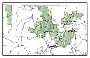 Carson National Forest - Map of Carson National Forest