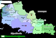 carte region nord pas de calais
