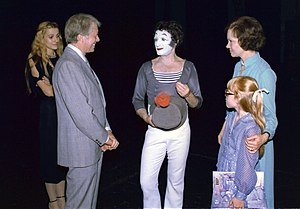 Amy Carter - Image: Carters with Marcel Marceau