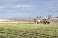 Case IH tractor with Hardi field sprayer, Lolland.jpg