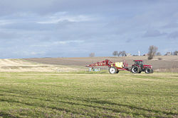 Case IH tractor with Hardi field sprayer, Lolland.jpg