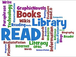 English: Library Services Tag Wordle