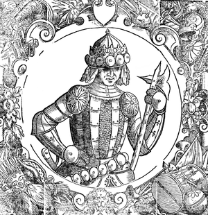 Casimir II the Just - Casimir II in Sarmatiae Europeae descriptio, Alexander Guagnini, c. 1578