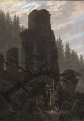 Ruins at dusk (Church ruin in the forest)