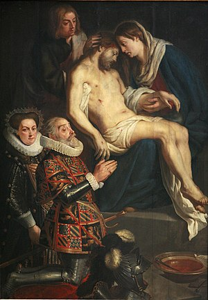 Gaspar de Crayer - Pieta with portraits of Henry van Dondelberghe and wife