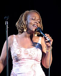 Jazz vocalist Cassandra Wilson performing at t...
