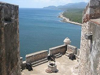 Battle of Santiago de Cuba (1748) - View from Castillo del Morro to the Caribbean Sea.