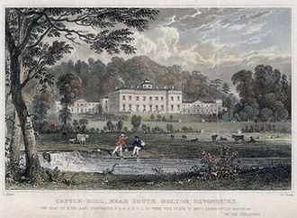 Castle Hill, Filleigh - Engraving of Castle-Hill, 1830