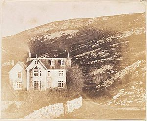 Caswell Bay - Caswell Cottage. The holiday home of John Dillwyn Llewelyn and his family