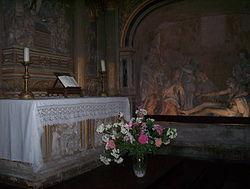 L'intérieur d'une des tourelles Est de la Cathédrale