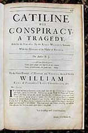 Catiline His Conspiracy - Title page from the Folio of 1692