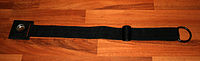 Black cello endpin strap