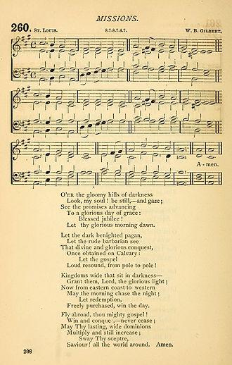 O'er the Gloomy Hills of Darkness - O'er the Gloomy Hills of Darkness in the Church of England in Canada's 1877 Church Hymnal.