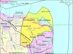 Middletown Township New Jersey Wikipedia - New jersey area code map