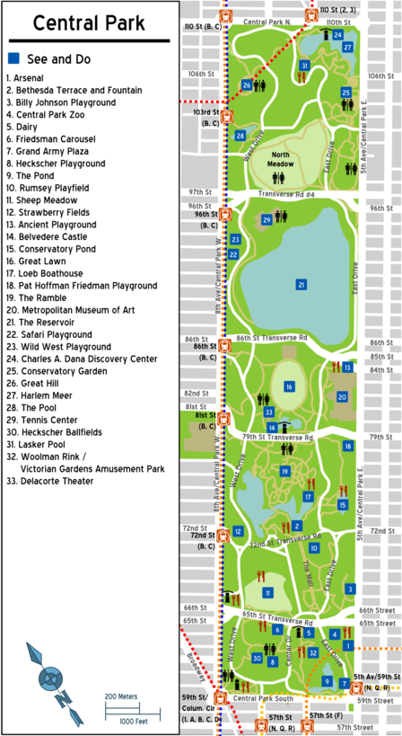 Map of Manhattan/Central Park