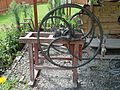 Chaff cutter, Gronicek open-air museum in Glinka.jpg