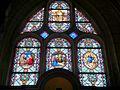 Chambly (60), église Notre-Dame, chapelle du Saint-Sacrement, vitraux.JPG